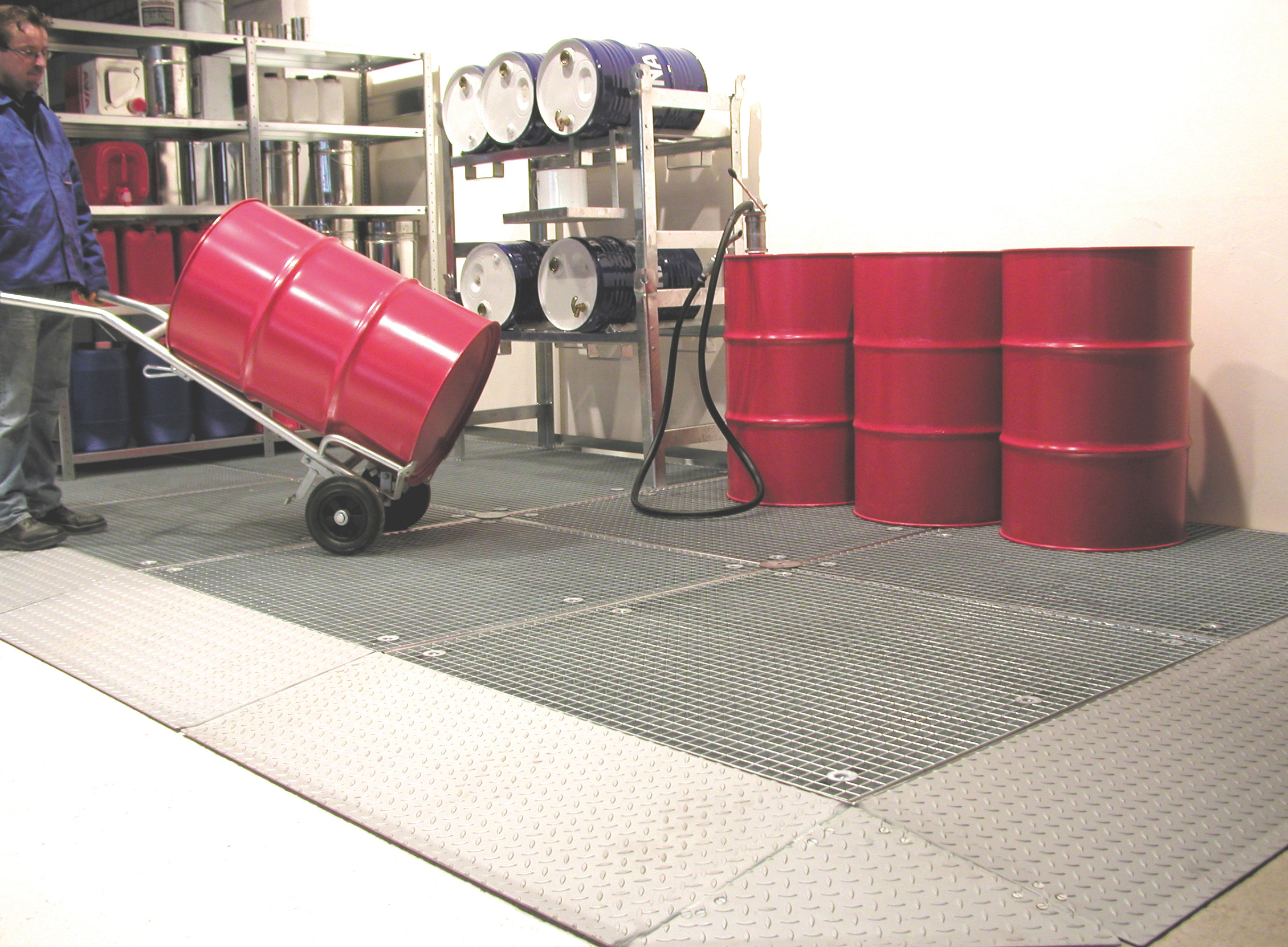 Bauer Südlohn® BSW 21-24 Floor protection tub, with pallet trucks or forklifts passable