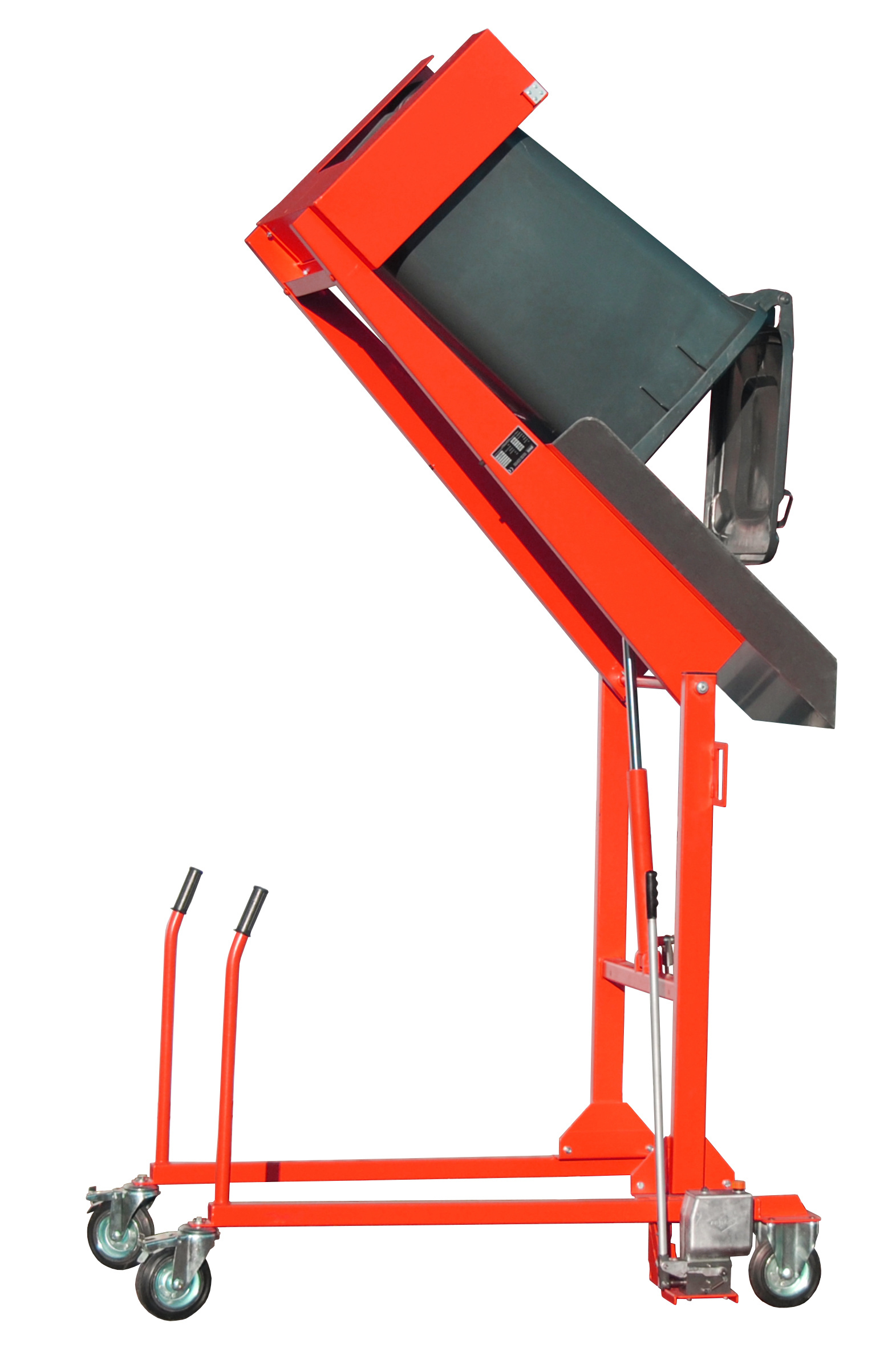 Bauer Südlohn® MKS-H garbage can-tipping station, with hand pump