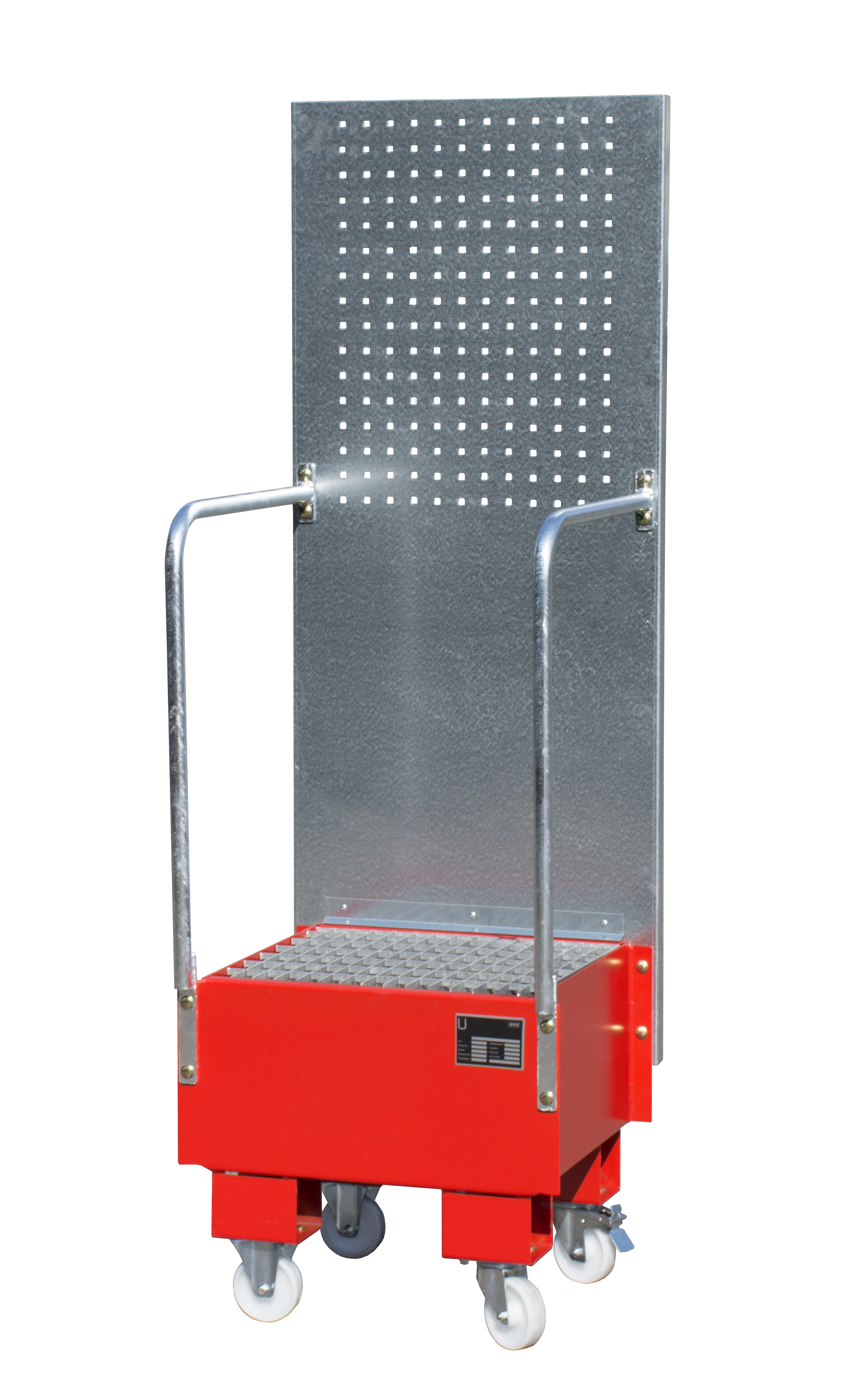 Bauer Südlohn® LPW Mobile drip tray, with hole plate wall