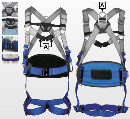 IKAR® IKG3BCW Catching and tethering strap, with quick-release fasteners