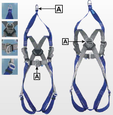 ICAR® IKG2AR collecting and rescue belt, with 2 D-rings