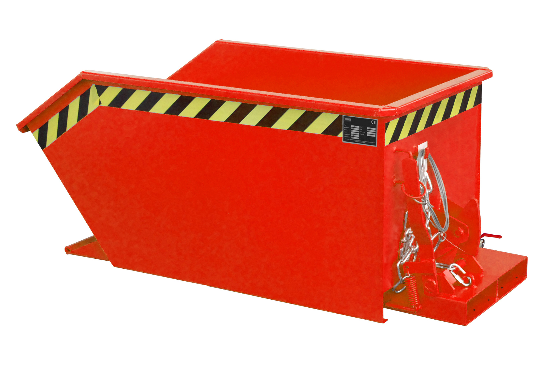 Bauer Südlohn® SGU chip container, tilting in each height by cable from the stacker seat
