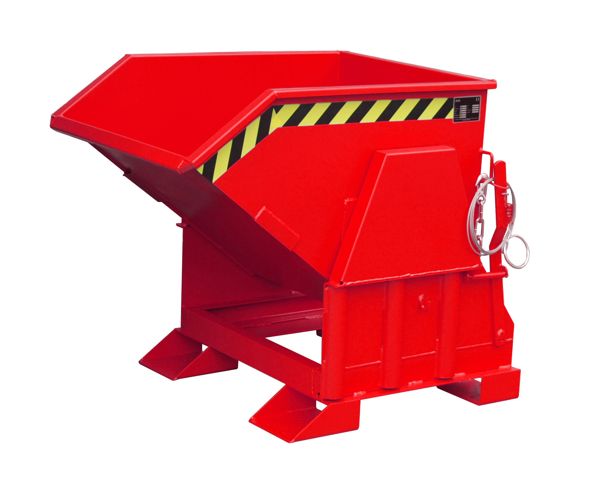 Bauer Südlohn® BK tilting container, tilting in each height by cable from the stacker seat