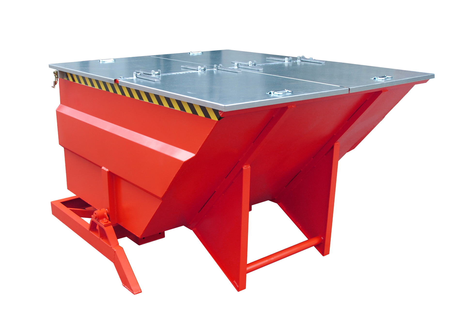 Bauer Südlohn® BKC tilting container, with side pivot bearing