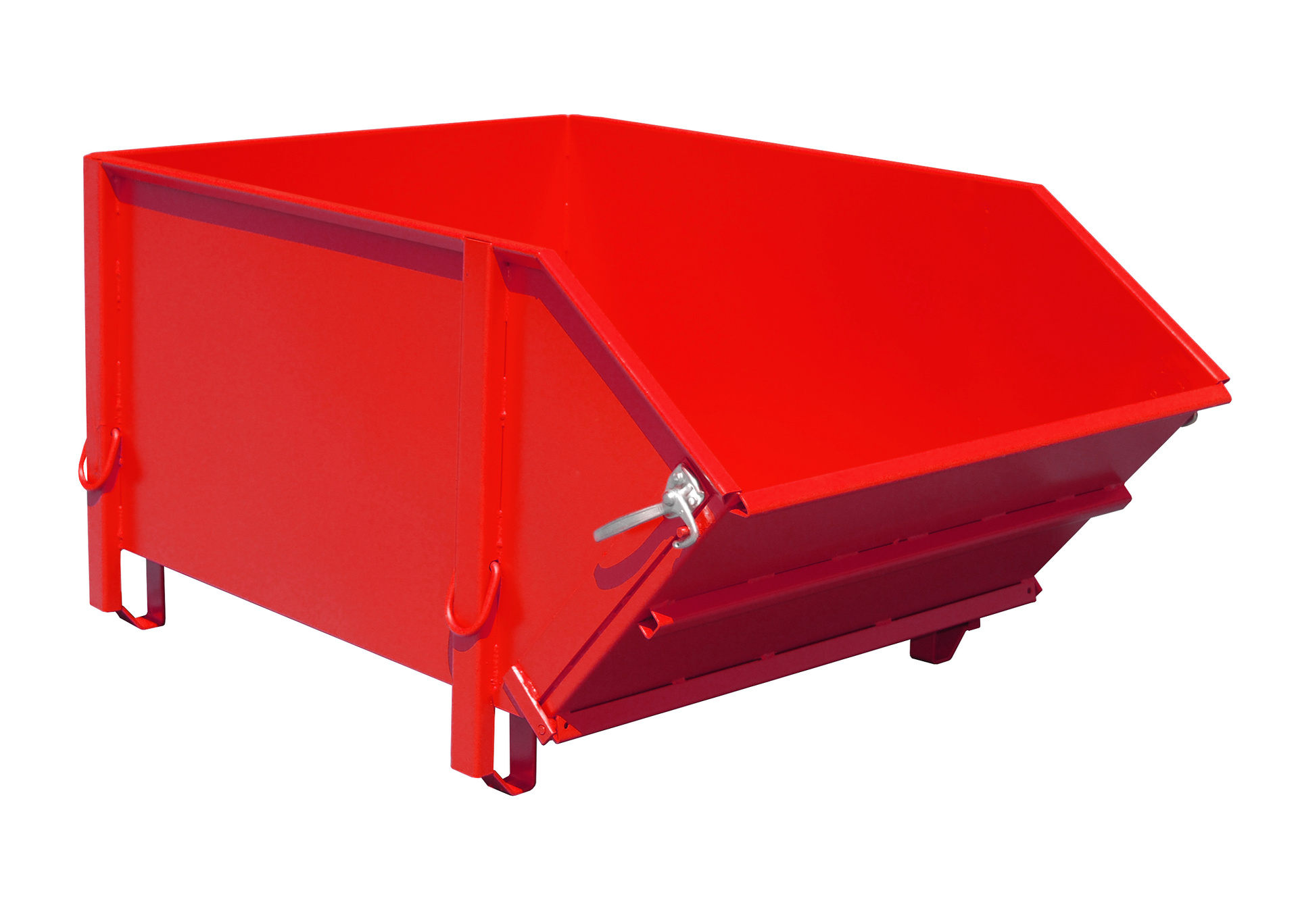 Bauer Südlohn® BBK building material container, with foldable shaft wall